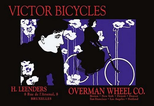 Victor Bicycles: Overman Wheel Company by William H. Bradley - Art Print