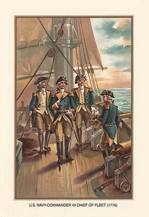 U.S. Navy - Commander and Chief of Fleet, 1776 by Werner - Art Print