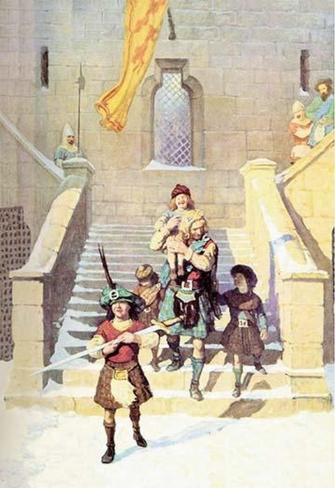 Wallace and the Children by N.C. Wyeth - Art Print