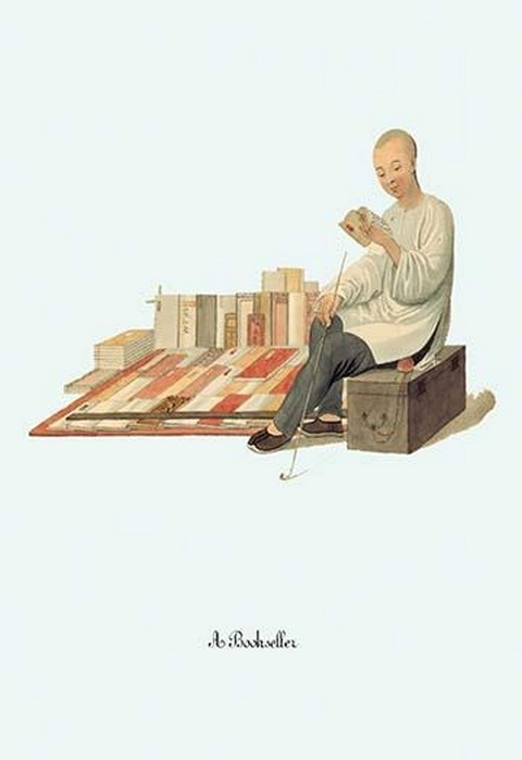 A Book Seller by George Henry Malon - Art Print