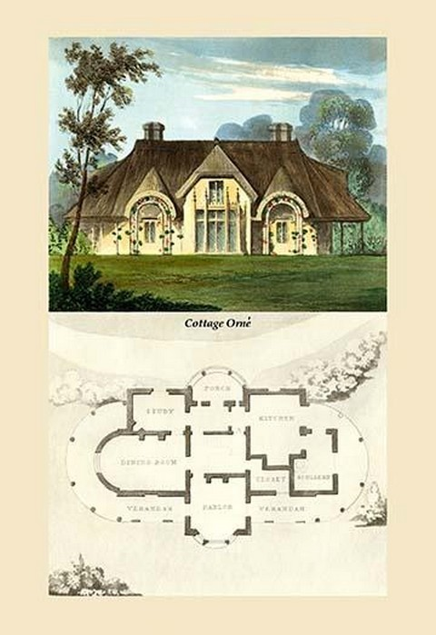 A Cottage Orne #2 by J. B. Papworth - Art Print