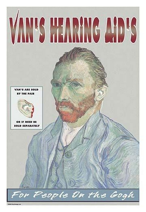 Van's Hearing Aids: For People on the Gogh by Wilbur Pierce - Art Print