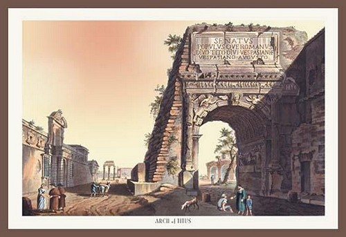 Arch of Titus by M. DuBourg - Art Print