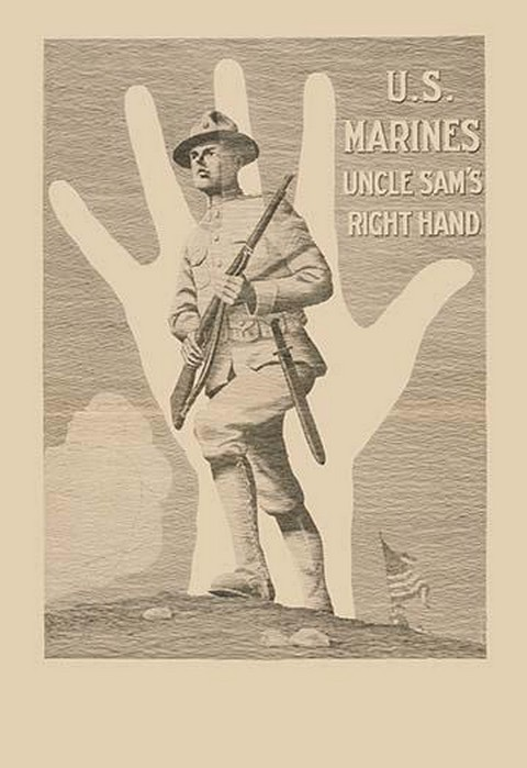 U.S. Marines, Uncle Sam's right hand by R. McBride - Art Print