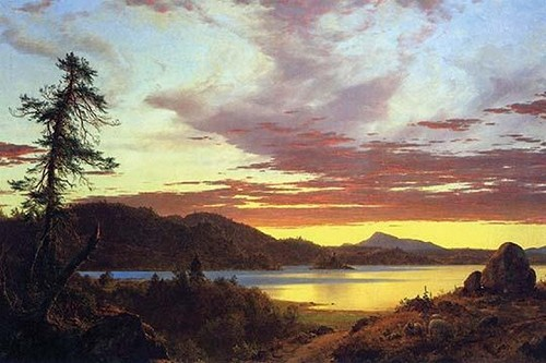 A Sunset by Frederic Edwin Church - Art Print