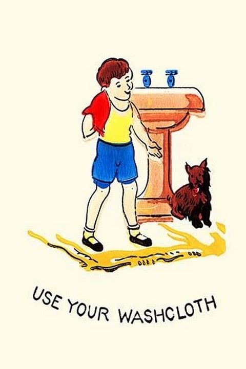 Use Your Washcloth - Art Print