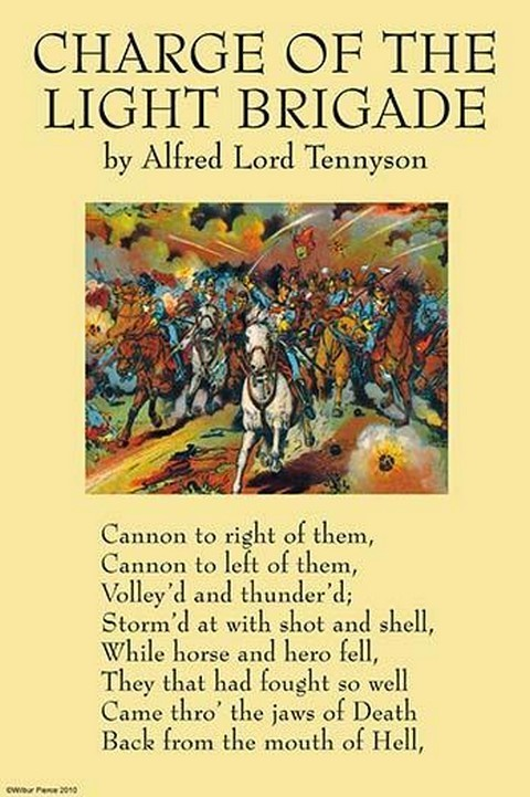 Charge of the Light Brigade by Alfred Lord Tennyson - Art Print