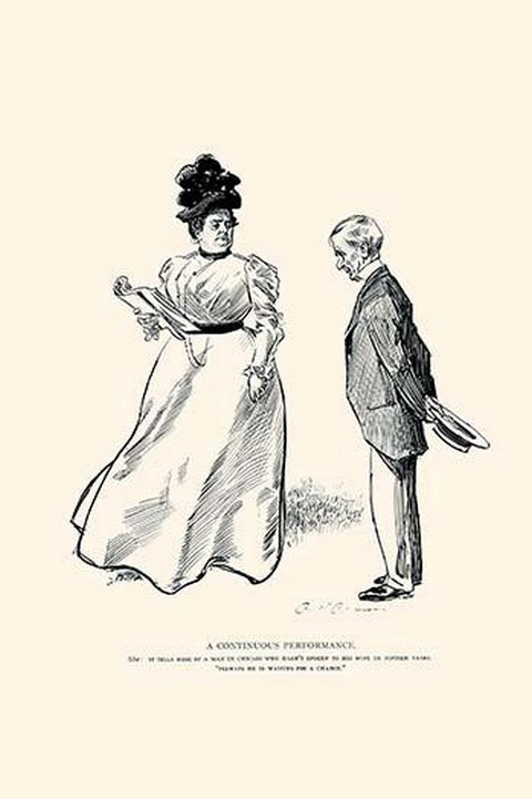 A Continuous Performance by Charles Dana Gibson - Art Print