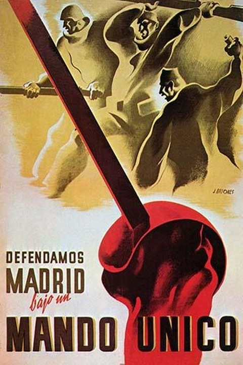 We defend Madrid under a Unified Command by Briones - Art Print