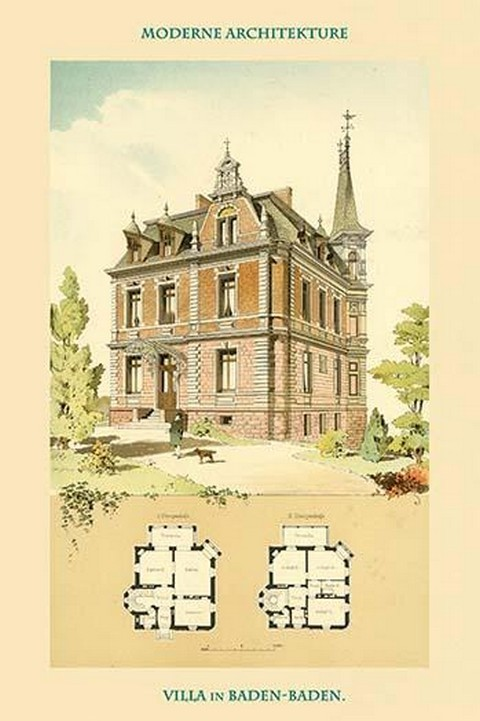 Villa in Baden-Baden by A. Klein - Art Print
