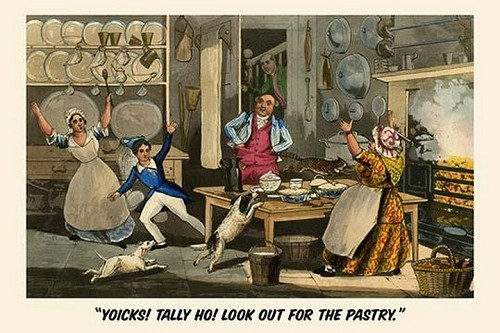Yoiks Talley Ho! Look out for the Pastry by Henry Alken - Art Print