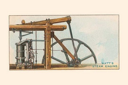 Watt's Steam Engine - Art Print