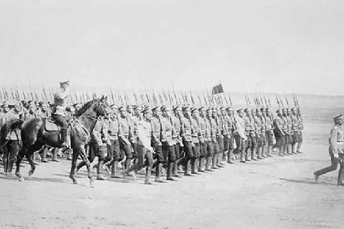 Tsarist Infantry Passes in Review - Art Print