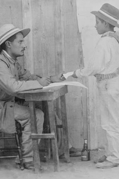 16 year old pint sized boy enlists in the Mexican Army - Art Print