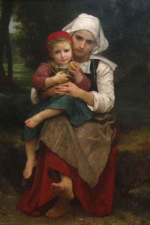 Breton Brother & Sister by William Bouguereau - Art Print