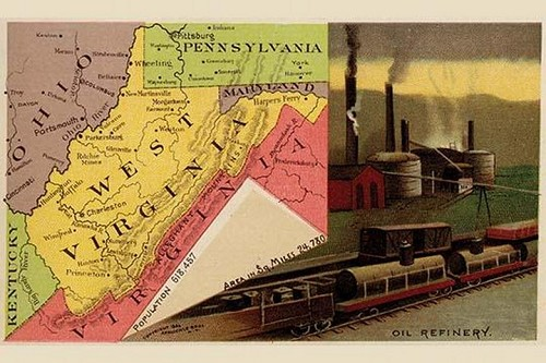 West Virginia by Arbuckle Brothers - Art Print